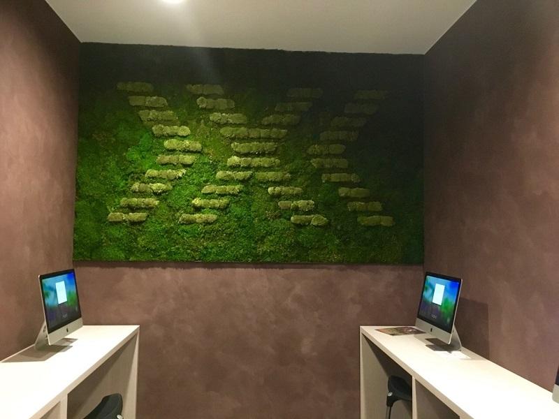 Machová stena s logom X-BIONIC® HOTEL