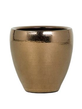 Zlatý keramický kvetináč AMORA GOLD