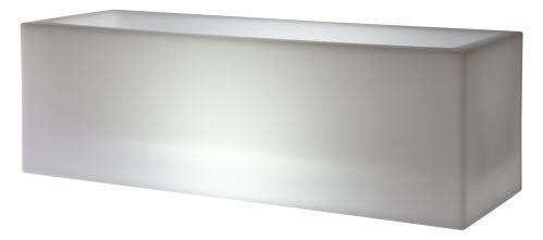 Svietiaci stolový kvetináč MINI KUBE CASSETTA LIGHT 60, 60x20/20 cm, interiér