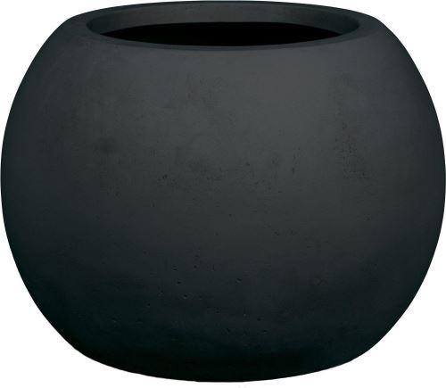 Kvetináč POLYSTONE GLOBE, 60/43 cm, antracitová čierna