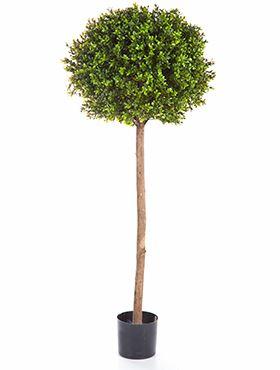 Umelý buxus tvarovaný do guličky na dlhom kmeni (boxwood ball tree) V140 cm