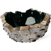 Kvetináč SHELL bowl brown mother-of-pearl, 60/33 cm, hnedá