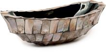 Kvetináč SHELL bowl brown mother-of-pearl, 46x20/13 cm, hnedá