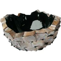 Kvetináč SHELL bowl brown mother-of-pearl, 40/24 cm, hnedá