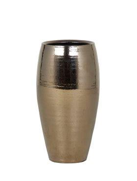 Zlatá keramická váza AMORA GOLD, 18/35 cm, zlatá