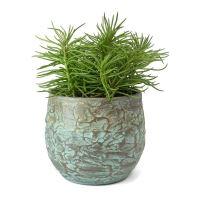 Kvetináč keramický INDOOR POTTERY Pot EVI, starožitná bronzová