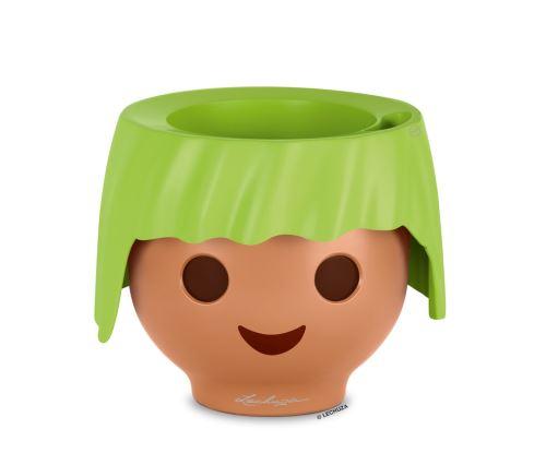 Kvetináč pre deti Lechuza OJO v zelenej