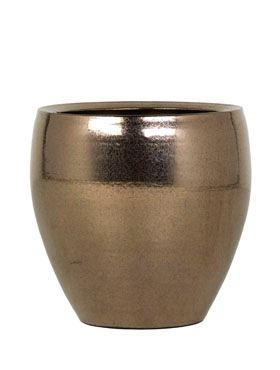 Zlatý keramický kvetináč AMORA