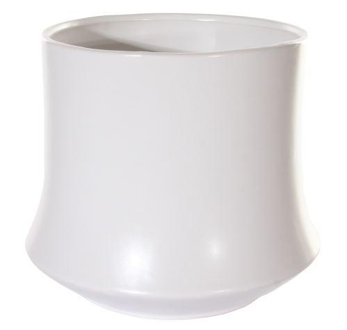 Biely matný kvetináč BAMBOO, 18/16cm, HydroFlora Bratislava