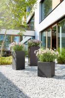 Kvetináč Lechuza Canto Stone Square so samozavlažovacím systémom