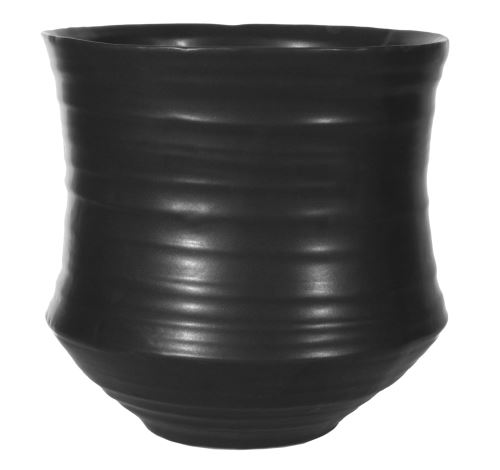 Čierny keramický kvetináč BAMBOO 17cm, HydroFlora Bratislava