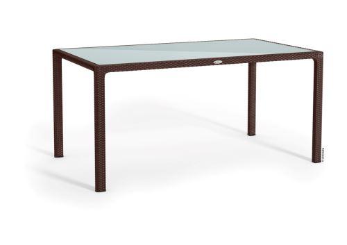 Lechuza záhradný stôl veľký (160 x 90 x 75 cm) mokka/tmavohnedá HydroFlora Bratislava