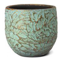 Kvetináč keramický INDOOR POTTERY Pot EVI, 15/13 cm, starožitná bronzová