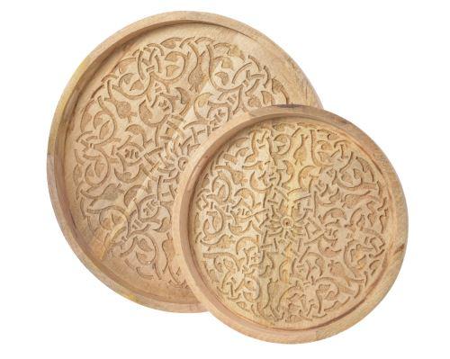Dekorácia zdobená tácka z mangového dreva HydroFlora Bratislava