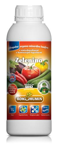 Tekuté organominerálne hnojivo Rokohumín 1L na zeleninu