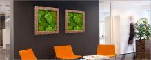 Machový obraz s rámom POLYSTONE Natural, 70x70cm, krémová
