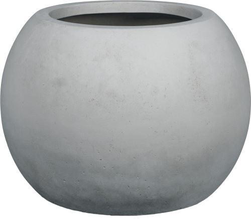 Kvetináč POLYSTONE GLOBE, 60/43 cm, sivá