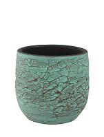 Kvetináč keramický INDOOR POTTERY Pot EVI, 18/16 cm, starožitná bronzová