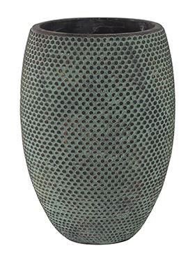 Kvetináč keramický INDOOR POTTERY Pot FAY blue gold, 19/27 cm, modrá