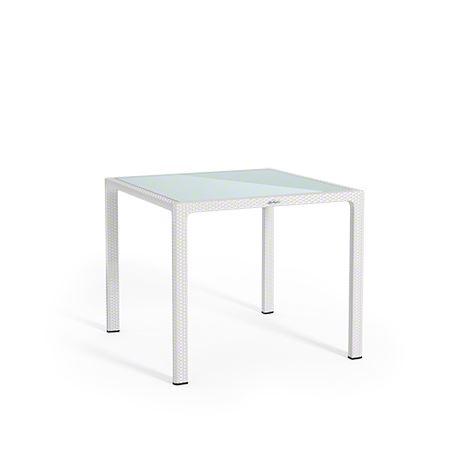 Lechuza záhradný stôl malý (90 x 90 x 75 cm) so sklenenou platňou