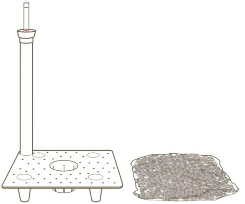 Systém dlhodobej závlahy, 17 x 17 cm, typ A