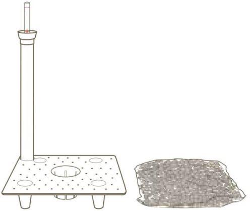 Systém dlhodobej závlahy, 17 x 17 cm, typ B
