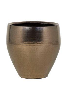 Zlatý keramický kvetináč