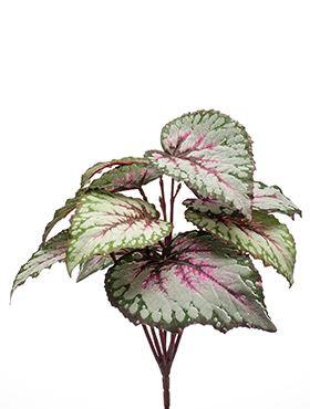 Umelá begónia, sivo-ružová (trs), R25 V25cm